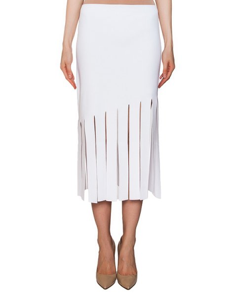 юбка из плотной эластичной ткани с разрезами артикул 42224 марки D.EXTERIOR купить за 9600 руб.
