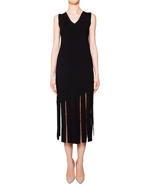 платье из плотной эластичной ткани, декорировано разрезами артикул 42229 марки D.EXTERIOR купить за 13900 руб.