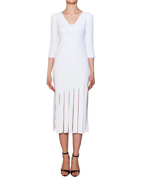 платье из плотной эластичной ткани с разрезами артикул 42234 марки D.EXTERIOR купить за 15700 руб.