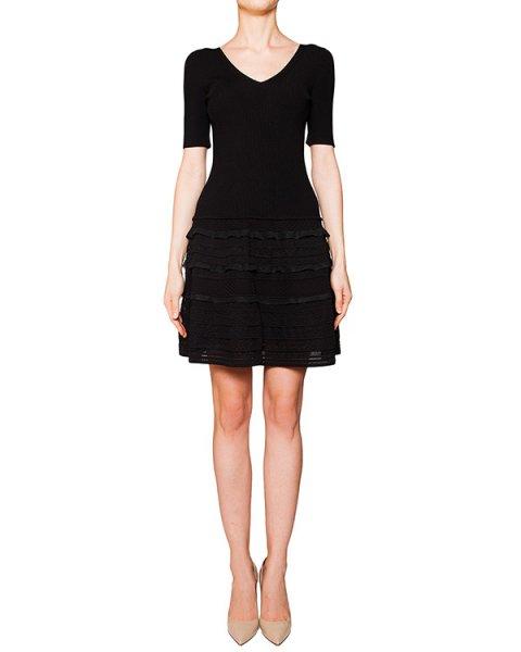 платье из плотной эластичной ткани, декорировано оборками артикул 42258 марки D.EXTERIOR купить за 20700 руб.