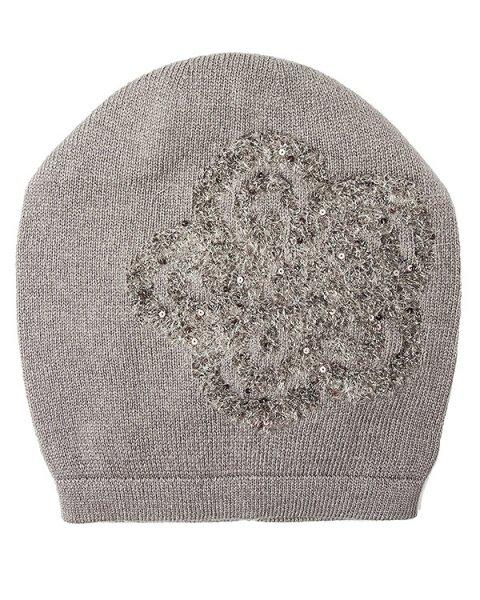 шапка из полушерстяного трикотажа с вышивкой артикул 43112 марки D.EXTERIOR купить за 6200 руб.