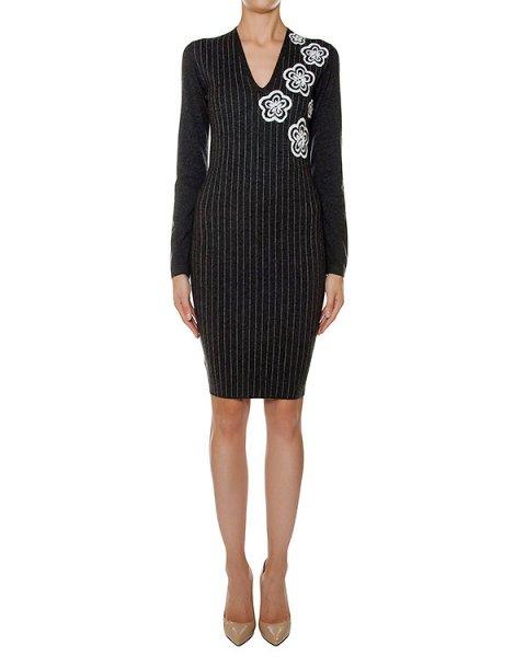 платье из мягкого шерстяного трикотажа в тонкую полоску   артикул 43279 марки D.EXTERIOR купить за 33800 руб.
