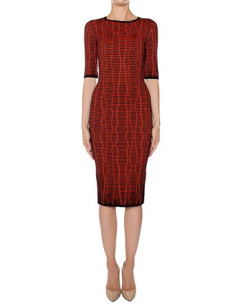 платье из фактурного шерстяного трикотажа артикул 43412 марки D.EXTERIOR купить за 35800 руб.