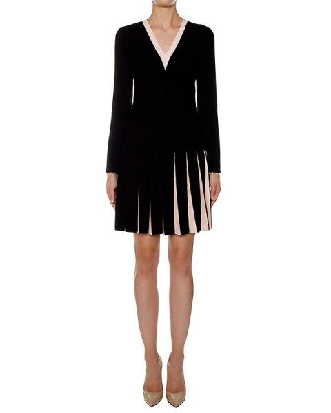 платье приталенного кроя из шерстяного трикотажа со складками на юбке артикул 43485 марки D.EXTERIOR купить за 39200 руб.