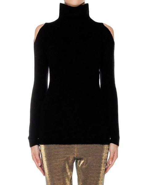 свитер из мягкой шерсти, декорирован вырезами на плечах артикул 43516 марки D.EXTERIOR купить за 10700 руб.
