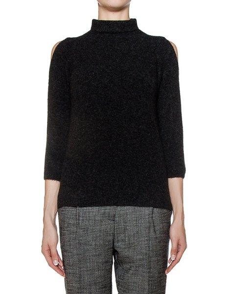 свитер из мягкого полушерстяного трикотажа с вырезами на плечах артикул 43519 марки D.EXTERIOR купить за 9500 руб.