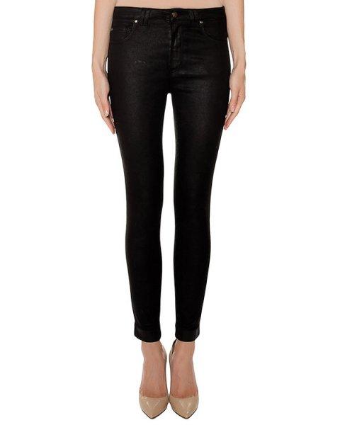 джинсы из эластичного денима с покрытием артикул 43926 марки D.EXTERIOR купить за 16600 руб.