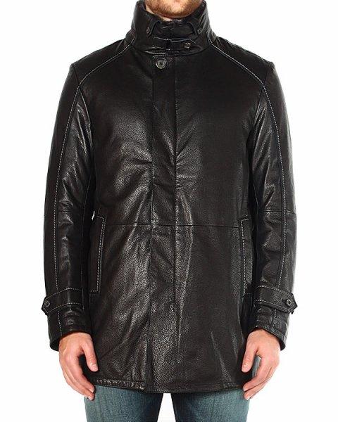 куртка прямого силуэта, из матовой фактурной кожи артикул 44199 марки Gimos купить за 84100 руб.