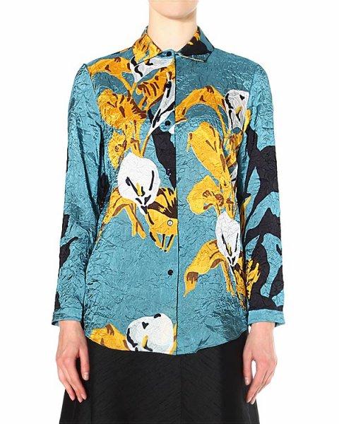 блуза из легкой струящейся ткани с эффектом жатого шелка артикул 465C61 марки Carven купить за 12600 руб.