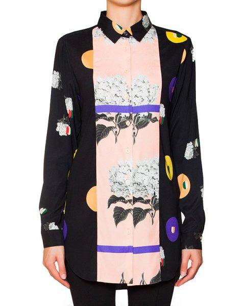 блуза из тонкого шелка с абстрактным принтом артикул 4711 марки Poustovit купить за 16200 руб.