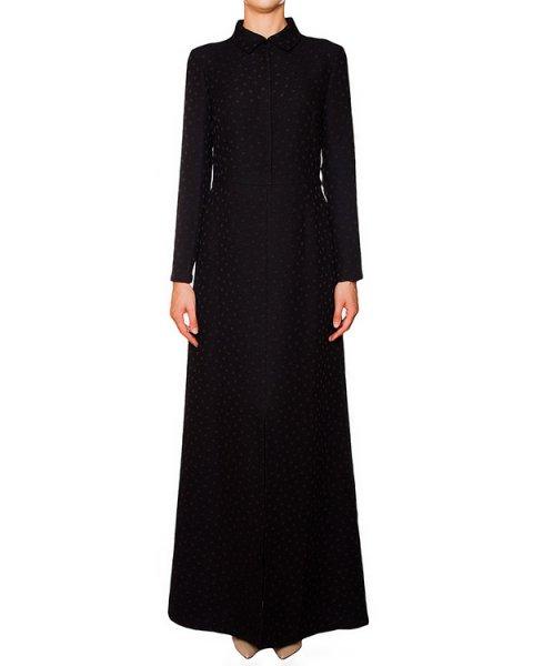 платье из фактурного трикотажа в мелкий горох артикул 5217 марки Poustovit купить за 21900 руб.