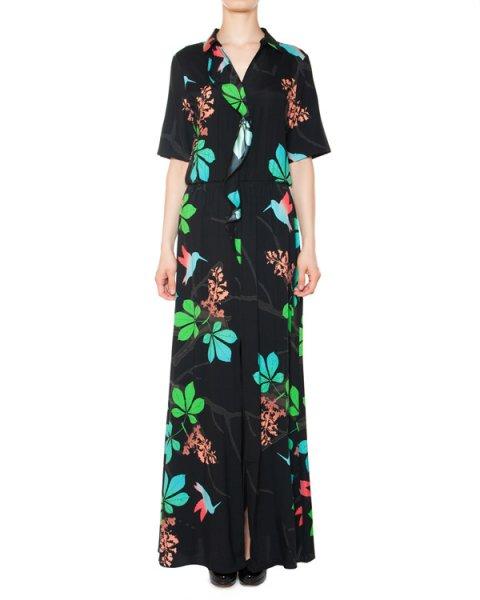 платье из шелка с ярким цветочным принтом артикул 5306 марки Poustovit купить за 31900 руб.