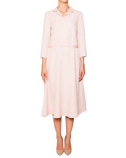 платье из эластичного трикотажа с фактурным цветочным узором артикул 5330-15 марки Poustovit купить за 18900 руб.