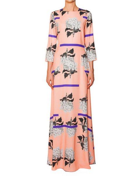 платье из тонкого шелка с цветочным рисунком артикул 5350-5 марки Poustovit купить за 28800 руб.