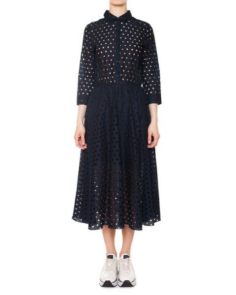 платье из перфорированного хлопка артикул 5448-22 марки Poustovit купить за 22100 руб.