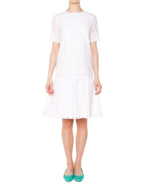 платье из перфорированного хлопка артикул 5452 марки Poustovit купить за 14300 руб.