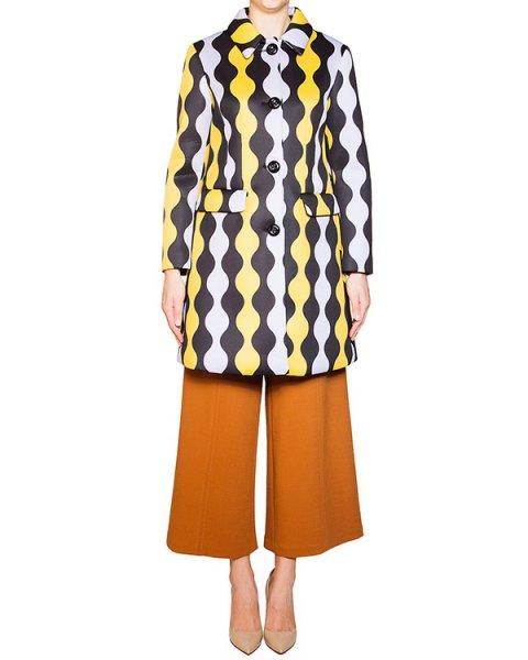 пальто из неопрена с контрастным орнаментом артикул 54VP125 марки VIVETTA купить за 16600 руб.