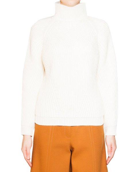 свитер из мягкой шерсти крупной вязки с высоким воротом артикул 54VP739 марки VIVETTA купить за 19300 руб.