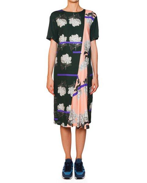 платье из тонкого шелка с цветочным рисунком артикул 5659 марки Poustovit купить за 24300 руб.