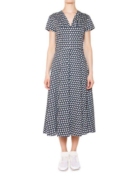 платье из хлопка с геометрическим принтом артикул 5679 марки Poustovit купить за 18900 руб.