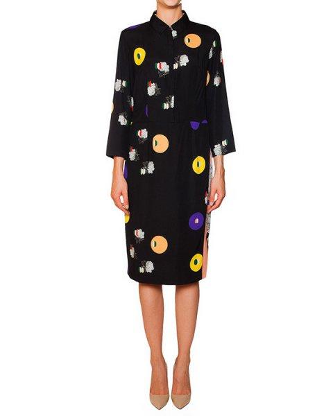 платье из тонкого шелка с абстрактным принтом артикул 5763 марки Poustovit купить за 28800 руб.