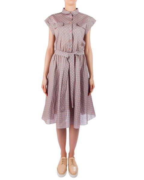 платье из мягкого легкого хлопка в мелкий горох артикул 5785-18 марки Poustovit купить за 13200 руб.