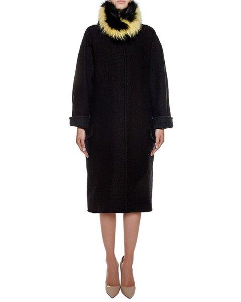 пальто из плотной полушерстяной ткани с оторочкой из натурального меха артикул 57AAFW16 марки Ava Adore купить за 92200 руб.