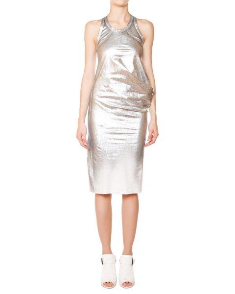 платье трикотажное с серебристым покрытием артикул 5897 марки MASNADA купить за 9900 руб.