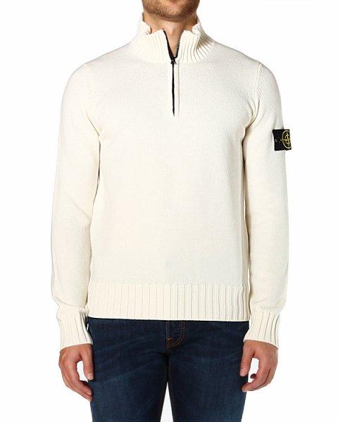 пуловер с воротником-стойкой и застежкой-молнией артикул 6115529A2 марки Stone Island купить за 18500 руб.