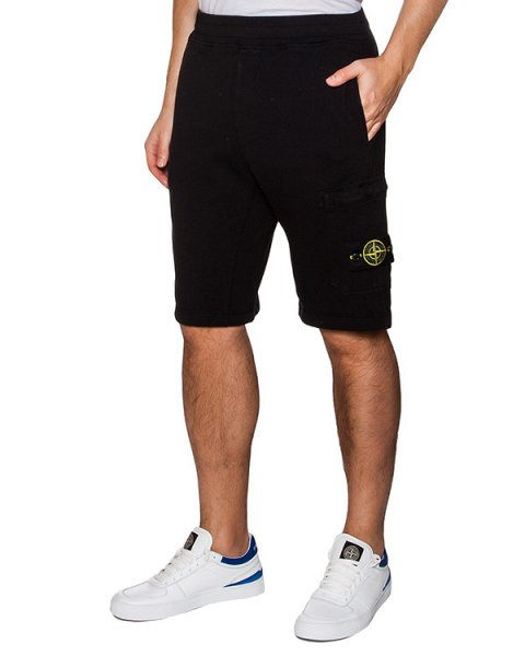 шорты из хлопкового трикотажа с фирменным патчем артикул 641566360 марки Stone Island купить за 5300 руб.