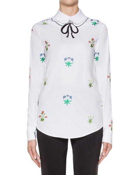 блуза из хлопка, декорирована цветочной вышивкой артикул 64VV227 марки VIVETTA купить за 14000 руб.