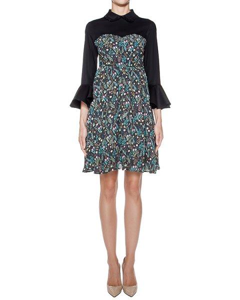 платье из легкой ткани с цветочным рисунком, контрастный верх из хлопка артикул 64VV524 марки VIVETTA купить за 19400 руб.
