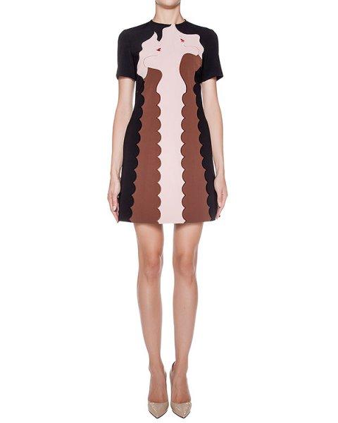 платье приталенного кроя с контрастной отделкой и вышивкой артикул 64VV529 марки VIVETTA купить за 25400 руб.