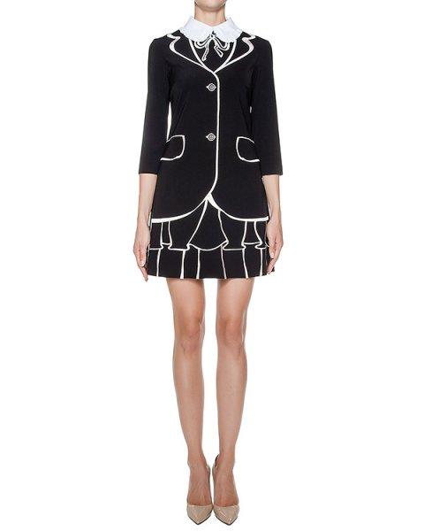 платье приталенного кроя, декорировано вышивкой и контрастным воротником артикул 64VV535 марки VIVETTA купить за 24000 руб.