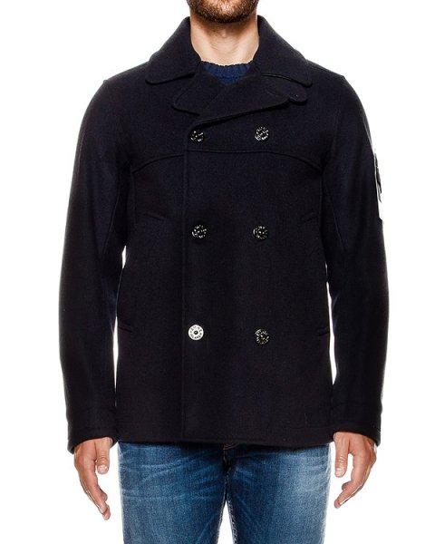 пальто из плотной шерсти, дополнен фирменным патчем артикул 651545048 марки Stone Island купить за 45000 руб.