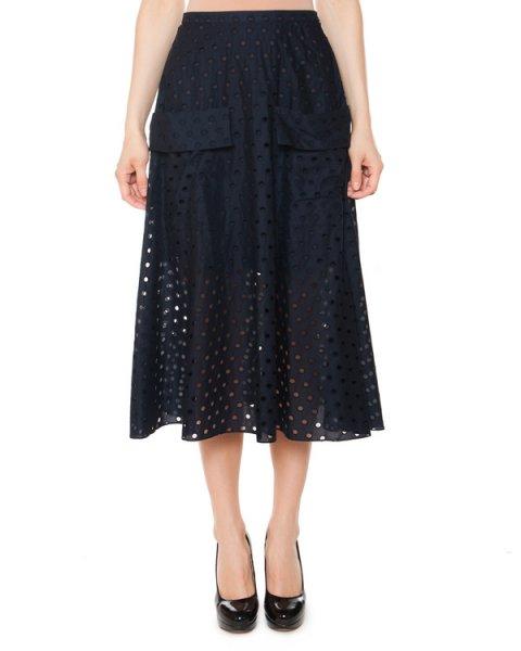 юбка из перфорированного хлопка с карманами артикул 6601-22 марки Poustovit купить за 15800 руб.