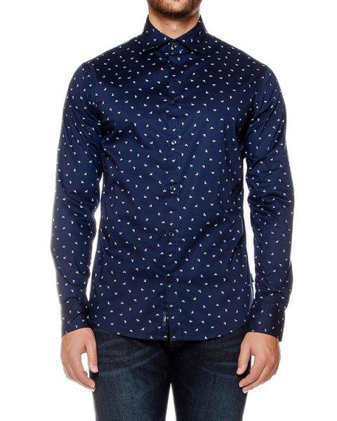 рубашка классического кроя с принтом в виде логотипа бренда артикул 6X6C20 марки ARMANI JEANS купить за 11500 руб.