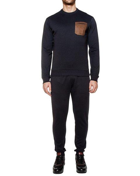 костюм из хлопкового трикотажа; джемпер дополнен накладным карманом артикул 6XM09-6X6P97 марки ARMANI JEANS купить за 24400 руб.