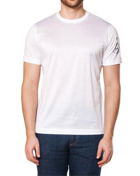 футболка прямого силуэта, с вырезом