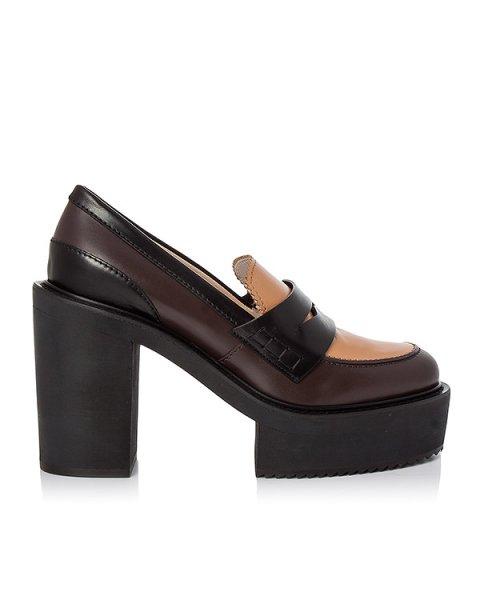 туфли из натуральной кожи артикул 8095 марки № 21 купить за 54200 руб.