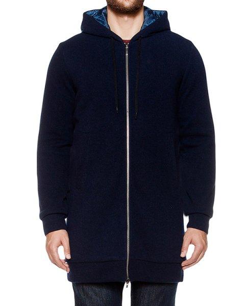пальто двустороннее; с внешней стороны из кашемира, с внутренней из водонепроницаемой стеганой ткани артикул 8184F048 марки 120% cashmere купить за 52400 руб.