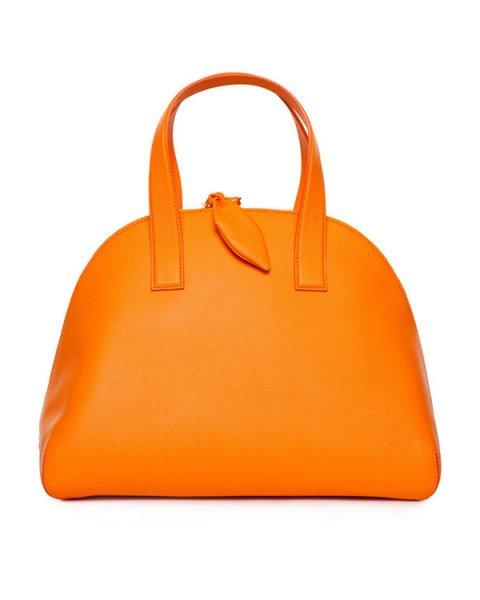 сумка из натуральной фактурной кожи насыщенного оранжевого цвета артикул 8A7501 марки CHEAP & CHIC купить за 22000 руб.