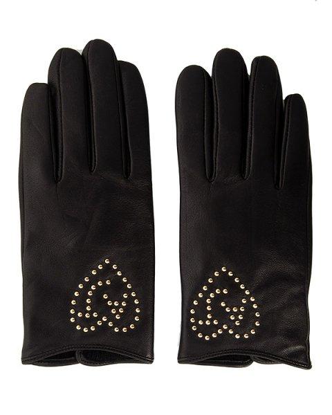 перчатки из натуральной кожи с металлическими клепками артикул 924044 марки ARMANI JEANS купить за 14200 руб.