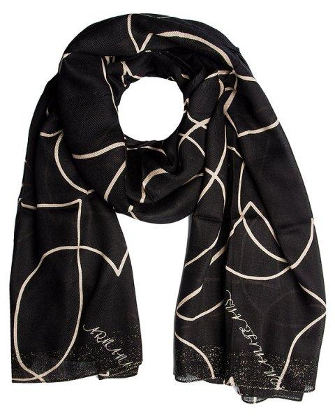 шарф из тонкой полушерстяной ткани с рисунком артикул 924048 марки ARMANI JEANS купить за 8000 руб.