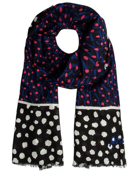 шарф из тонкой шерсти с рисунком артикул 924080 марки ARMANI JEANS купить за 11800 руб.