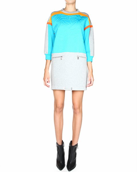 платье в спортивном стиле с металлическими клипсами на вороте артикул A0120 марки MRZ купить за 24100 руб.