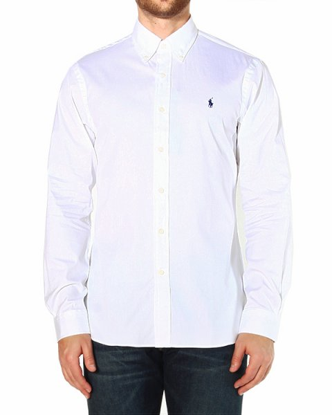 рубашка прямого кроя, с лого бренда на груди артикул A02WSFBK марки Polo by Ralph Lauren купить за 5200 руб.