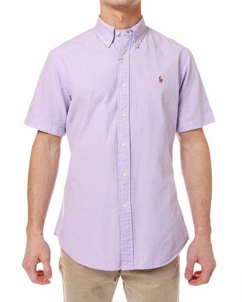 рубашка с коротким рукавом и воротником-стойкой артикул A04WSLSS марки Polo by Ralph Lauren купить за 3400 руб.