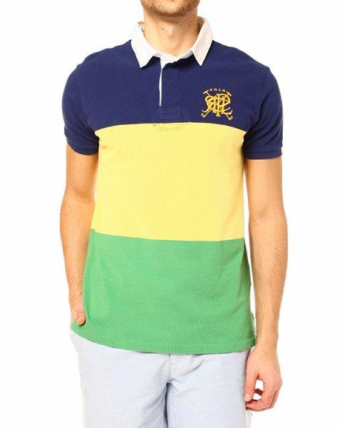 поло с контрастной расцветкой из ярких широких полос артикул A20KSWQD марки Polo by Ralph Lauren купить за 4200 руб.
