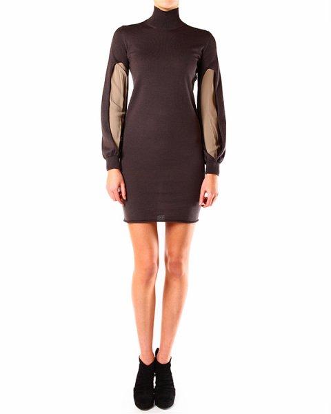 платье прилегающего силуэта, с полупрозрачными вставками на рукавах артикул A33345 марки PierAntonioGaspari купить за 12900 руб.